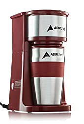 AdirChef Grab N' Go Personal Coffee Maker with 15 oz. Travel Mug from AdirChef