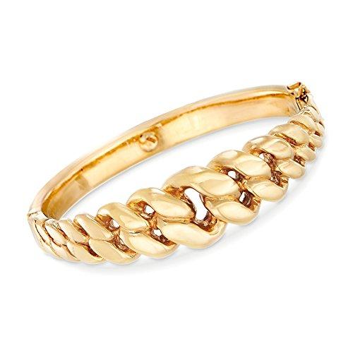 Ross-Simons Certified Italian 14kt Yellow Gold Cuban-Link Bangle Bracelet ()