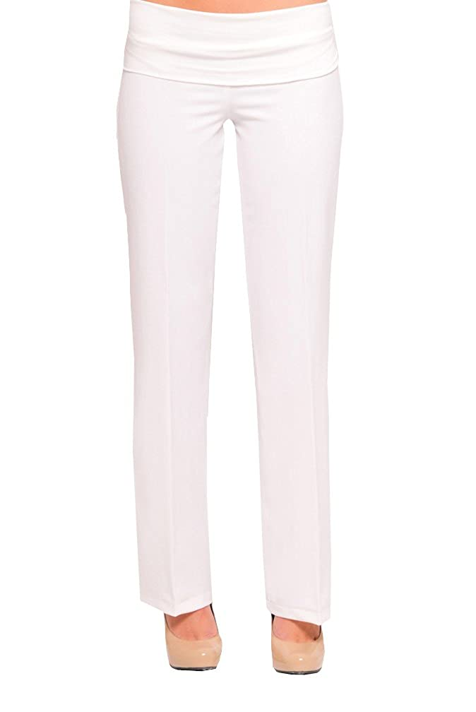 Olian Kate Maternity Career Pants Skinny Leg White) DM06834-WHT-L