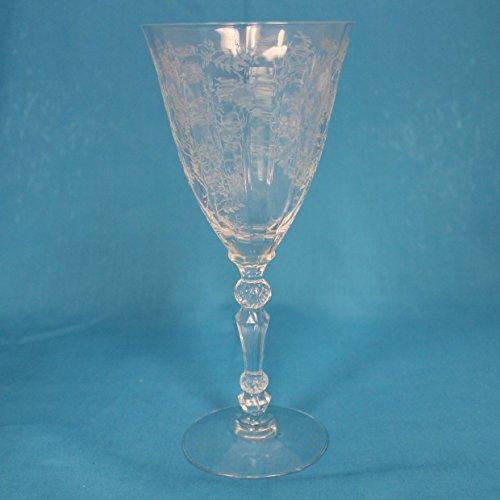 Fostoria Chintz (Etched) Water Goblet Crystal Stemware (Chintz Fostoria)