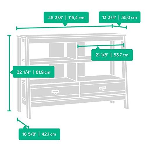042666162562 - Sauder Trestle TV Stand in Jamocha Wood carousel main 4