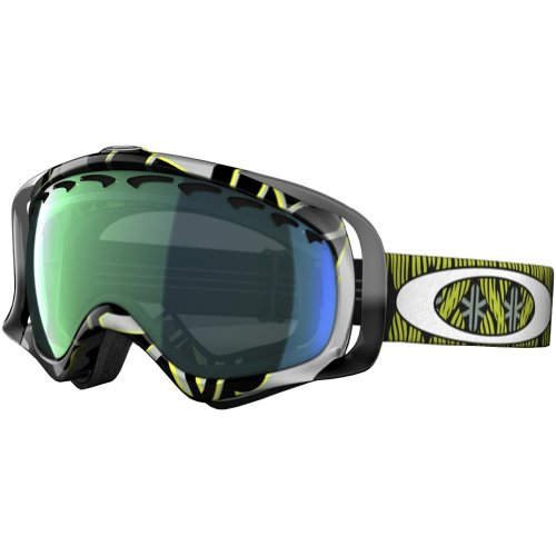 (Oakley Crowbar Kazu Kokubo Signature Series Snow Goggle with Emerald Iridium Lens)