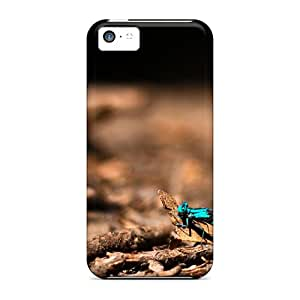 Pretty Qdm25398iKbq Iphone 5c Cases Covers/ Colorful Dragonfly Series High Quality Cases