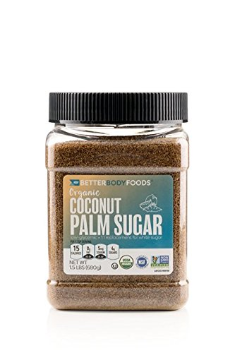 BetterBody Foods Organic Coconut Sugar, 1.5 Pound