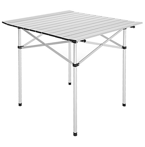 KELAND Folding Roll Up Table Portable Fishing Picnic Square Aluminum Table Outdoor(US Stock) by KELAND