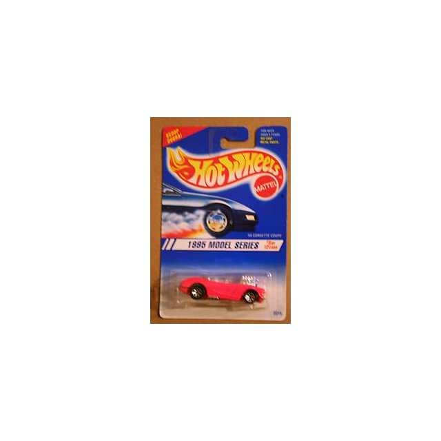 Hot Wheels 1995 Series #3 58 Corvette Coupe Pink #341