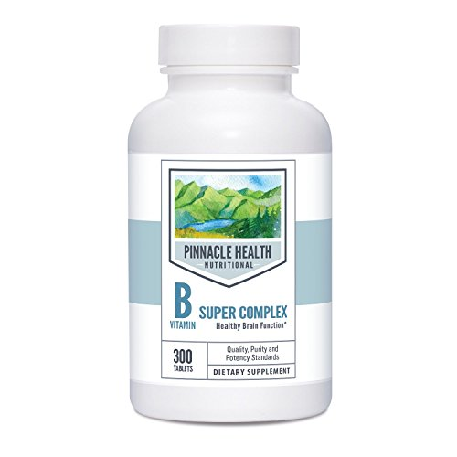Vitamins Vital B-complex - Vitamin B Complex w/ Riboflavin - Best Value 300 Count - Vital For Healthy Brain Function, Boosts Energy - by Pinnacle Health