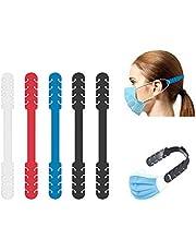 TBOC Verstelbare Maskerverlengingshaak - [Pack 5 Eenheden] Extender Haken [Wit + Rood + Blauw + Zwart] Siliconen Hook met Grepen Anti-Aanspanning voor Nek Beschermt Oren Vrij te Geven Vermoeidheid