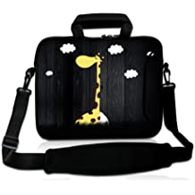 """Giraffe 13"""" 13.3"""" Cute Laptop Shoulder Sleeve Bag Case+Handle For Apple Macbook Pro,Air,13.3"""" Samsung Series 5 9 Ultrabook Dell,Apple Sony IBM HP Toshiba Asus Acer,13"""" inch 13.3"""" Laptop Ultrabook Acer Aspire S3 S5 S7,Lenovo IdeaPad UltraBook U310 Z370,13.3"""" HP Pavilion Dell,DELL XPS 13 13 inch Ultrabook HP TOSHIBA ASUS,Sony VAIO T Series 13,13.3"""" HP Pavilion Dell,Samsung Ativ Book 9 13"""" Laptop"""