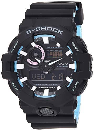 Casio Reloj Analogico-Digital para Mujer de Cuarzo con Correa en Resina GA-700PC-1AER 1