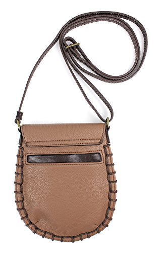 Cell Chala Adjustable Phone Women Charming Brown Handbag PU Leather Crossbody Strap with Purse qHHB1R