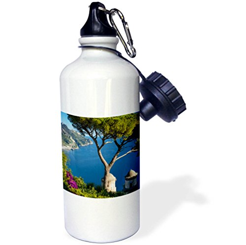 3dRose Danita Delimont - Italy - View over Gulf of Salerno from Villa Rufolo, Ravello, Campania, Italy - 21 oz Sports Water Bottle (wb_277546_1) by 3dRose