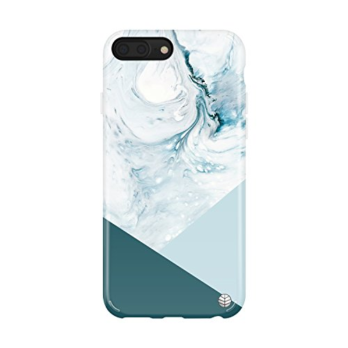 Akna iPhone 8 Plus/7 Plus case Marble, Collection Flexible Silicon Cover for both iPhone 7 Plus & 8 Plus [Blue Acrylic (Blue Acrylic Case)