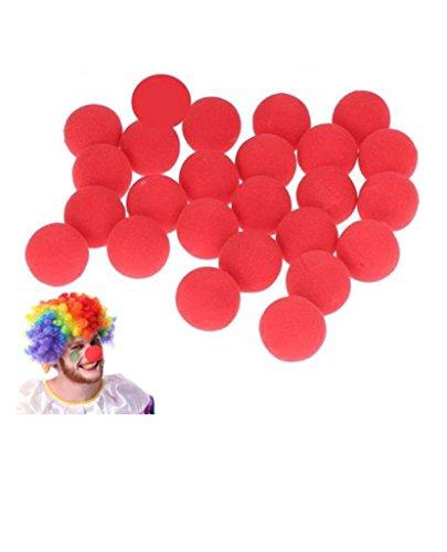 Distinct 25 PCS Magic Sponge Ball Red Clown Nose for Halloween party Masquerade -
