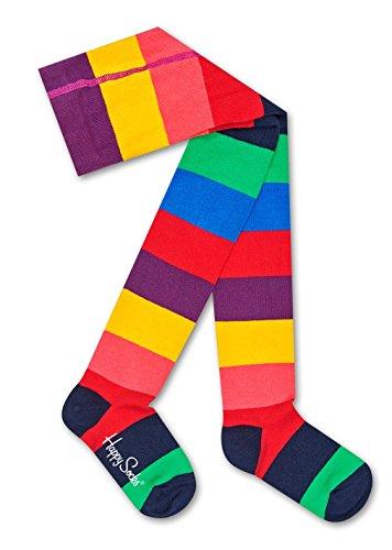 Happy Socks Kids Stripe Tights Blue,Green,Orange,Red,Yellow