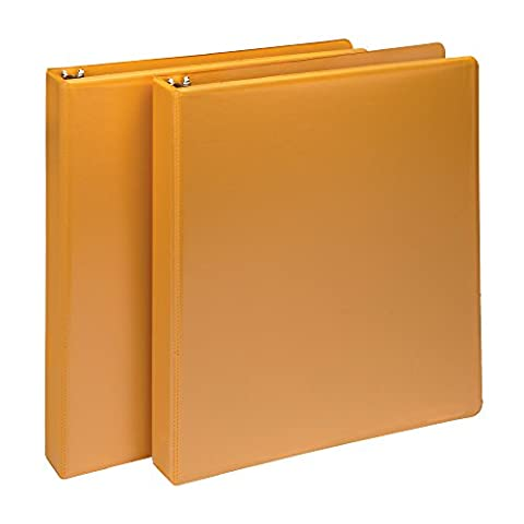 Samsill Fashion Color Durable 3 Ring View Binders, 1 Inch Round Ring, Customizable Clear View Cover, Coral Orange, Two (Binders 3 Ring Fashion)