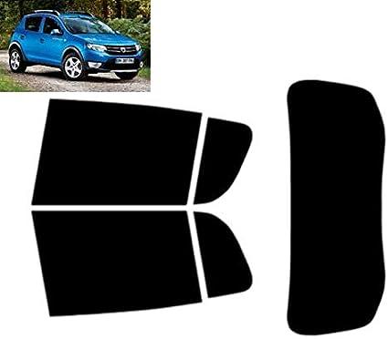 20/% Dark Smoke Teint/é pr/é-d/écoup/é pour fen/être Dacia Sandero Stepway 5 Portes Hatch 2012 Kit arri/ère