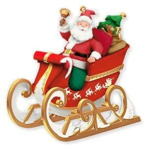 Sleigh on the way 2010 hallmark ornament home - Ornament tapete weiay ...