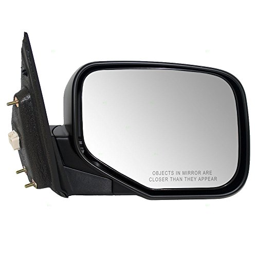Passengers Power Side View Mirror Heated Ready-to-Paint Replacement for Honda Pickup Truck 76200-SJC-A31