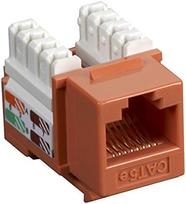 Black Box Network Services Cat5e Keystone Jack Orange 25 Pack