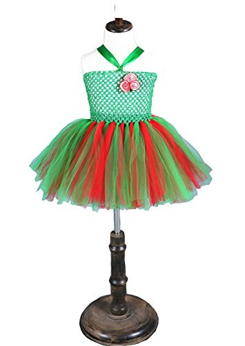 Kids 2017 Christmas Fancy Party Dress Halloween Xmas Cosplay With Christmas Stocking (XL(125-140cm), Green Christmas) -