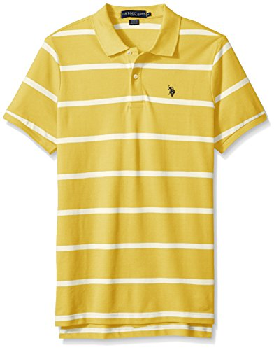 U.S. Polo Assn. Men's Classic Fit Stripe Short Sleeve Pique Polo Shirt