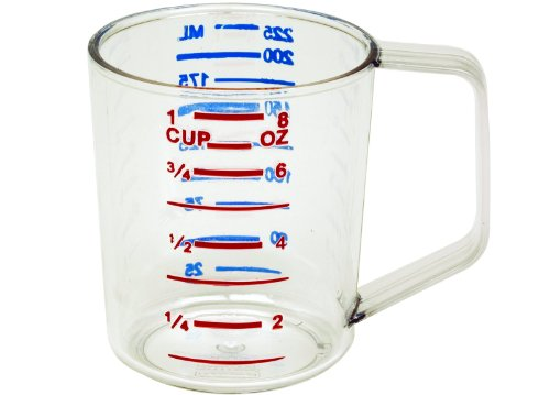 Rubbermaid Commercial 3210CLE Bouncer Measuring Cup, 8oz, Clear