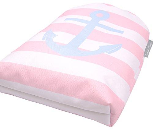 Nautisch New England rosa und weiß Streifen Anker Wasserfest Schwimmen/ Schuh/ Fitnessstudio/ PE/ Rucksack Tasche 67QeIY