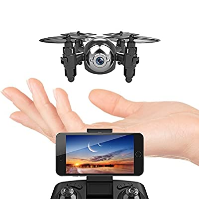 Mini Drone with HD Camera WiFi FPV Live Video, One Key Return, Headless Mode, 2.4GHz 6 Axis Gyro Remote Control Helicopter Small Quadcopter Nano Drone for Kids Beginners Adults