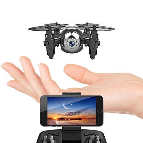MANZOKU Mini Drone with HD Camera WiFi FPV Live Video, One Key Return, Headless Mode, 2.4GHz 6 Axis Gyro Remote Control Helicopter Small Quadcopter Nano Drone for Kids Beginners Adults