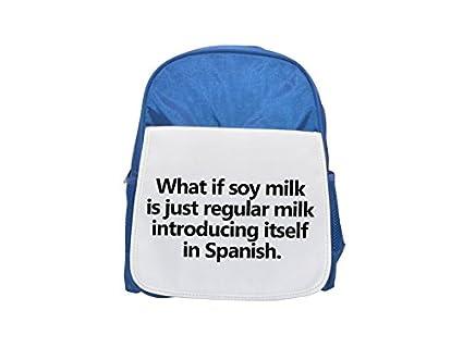 Qué si la leche de soja es la leche normal que se presenta en la mochila