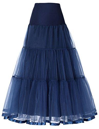 Longueur Robe Tulle 100cm6 Femme Marin Grace À Jupon Sous Petticoat Cheville Karin Longue En CouleursBleu j534ARLq