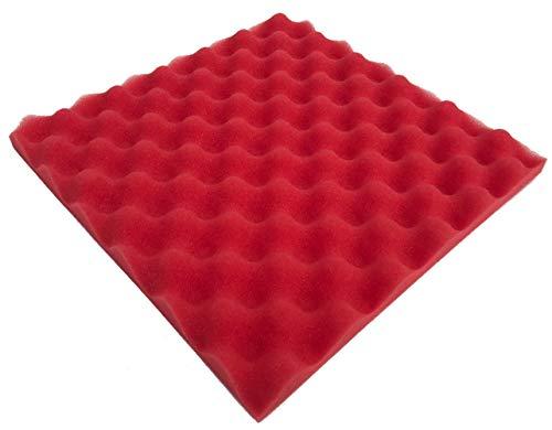 Liveinu Wave - Espuma de amortiguación de sonido ignífuga para habitaciones de estudio, espuma acústica, absorción de...