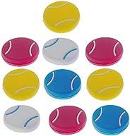 10 Pcs Tennis Racket Vibration Dampeners Tennis Shape Tennis Racquet Shock Absorbers Tennis Racket Strings Dam