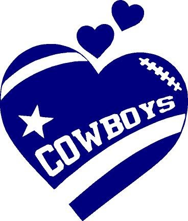 amazon com texas cowboys heart football in navy blue 5 inches rh amazon com dallas cowboys clip art images dallas cowboys images clipart