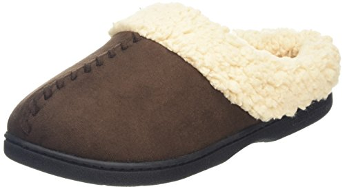 Memory Brown Dearfoams Chaussons with Microsuede Clog 00205 Espresso Whipstitch and Femme Foam X1qURx1H