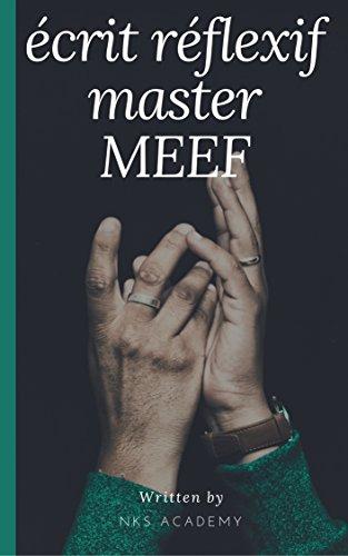 écrit réflexif lié à un problème de classe MASTER MEEF (French Edition)