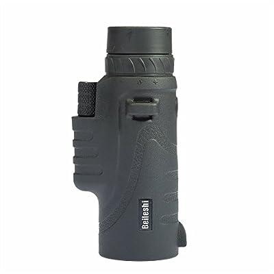 Beileshi® 12X52 Mini Waterproof Monocular Telescope With Tripod(Black)