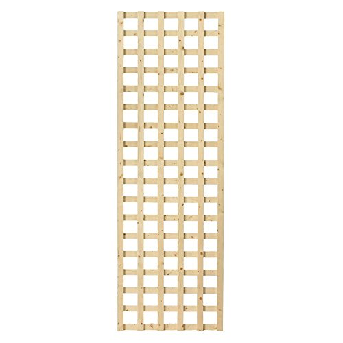 1-1/2 in. x 24 in. x 6 ft. Wood Square Lattice - Panels Lattice Wood