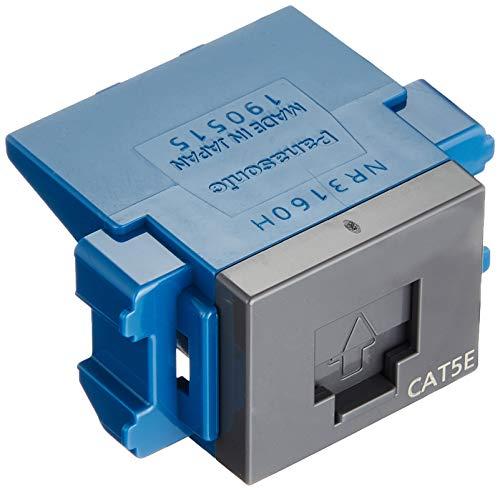 [해외]파 나 소닉 다가가서 로터스 시리즈 CAT5E 모듈형 매 키 그레이 NR3160H / Panasonic Cosus Series CAT5E Modular Embedded Gray NR3160H