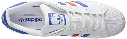 Adidas Mens Superstar Synthetic Trainers Weiß
