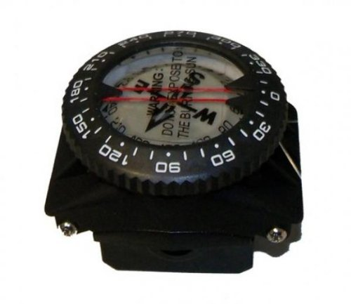 Wrist Mount Compass (Storm Accessories Wrist Compass On A Special Hose Mount for Scuba Diving Navigation)
