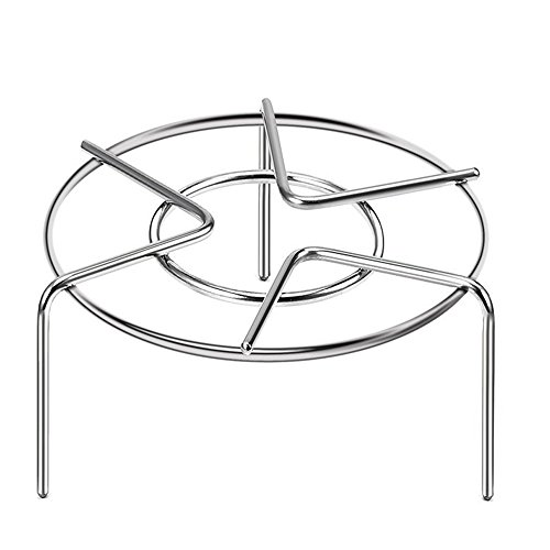 Pressure Cooker Trivet Steam Pot Pan Cooking Rack Stand Food Vegetable Crab Tall Wire Heavy Duty Stainless Steel Steaming Rack Cookware 3-1/8'' Height Wire Bun Pan Rack