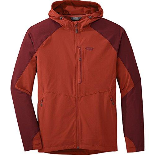 Outdoor Research Men's Ferrosi Hooded Jacket, Diablo/Taos, - Mens Wind Jacket Diablo