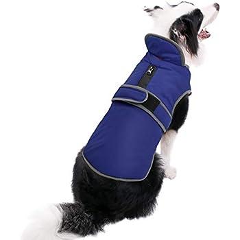 MIGOHI Reflective Waterproof Windproof Dog Coat Cold Weather Warm Dog Jacket Reversible Stormguard Design Winter Dog Vest for Small Medium Large Dogs Navy L
