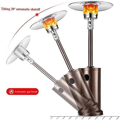 SYLOZ Parapluie Radiateurs, Chauffe-Commercial extérieur, Pulse Allumage et Rouleau Portable