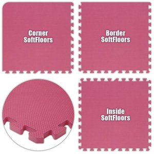 Alessco SFPK1616 SoftFloors -Pink -16' x 16' Set from Alessco