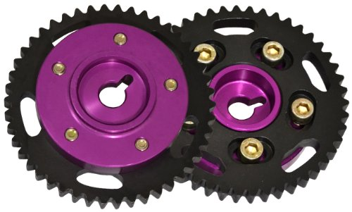 ALUMINUM DUAL CAM GEAR RACING ENGINE MOTOR SPROCKET PERFORMANCE PURPLE FOR SR20 ENGINE