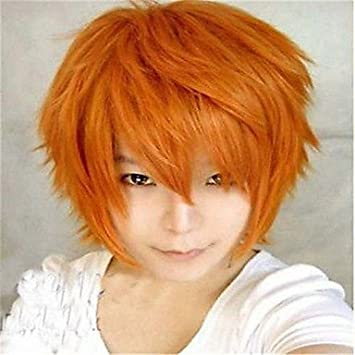 GSP-la nueva naranja peluca de color de dibujos animados se enfrentan pelucas de cabello