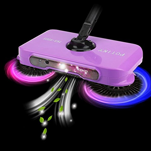YRD TECH Spin Hand Push Broom Sweeper Household Dust Collector Floor Surface Cleaning Mop (Purple)